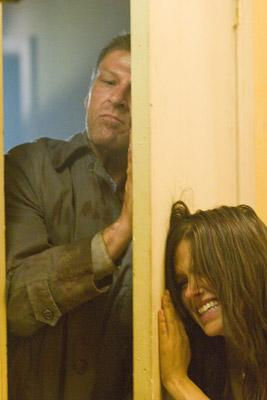 Sean Bean and Sophia Bush in Rogue Pictures' The Hitcher