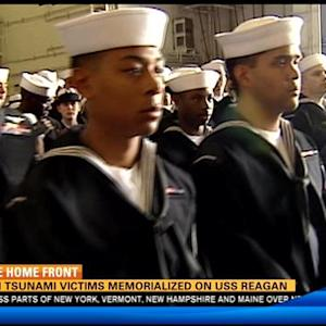 Japan tsunami victims memorialized on USS Reagan
