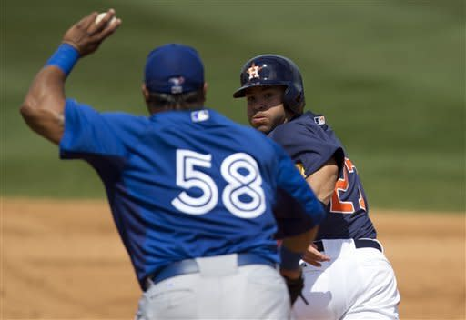 Carter 2 HRs, 5 RBIs as Astros beat Blue Jays 11-2