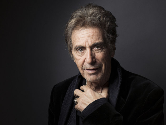 "FILE - In this Dec. 7, 2012 file photo, Al Pacino poses for a portrait, in New York. Pacino will play Joe Paterno in a movie about the late Penn State football coach. Brian De Palma will direct ""Happy"
