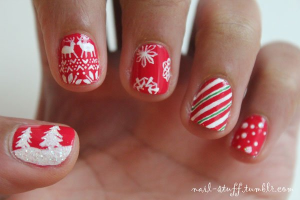 Best Christmas nail art © nail-stuff / tumblr | Best Christmas nail ...