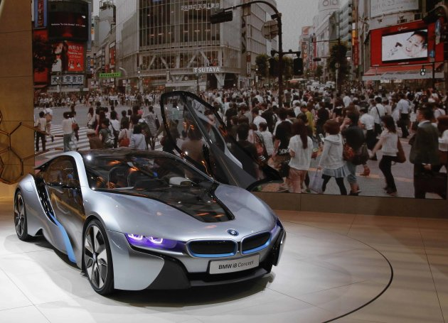 BMW's i8 Concept car is seen at the 42nd Tokyo Motor Show in Tokyo
