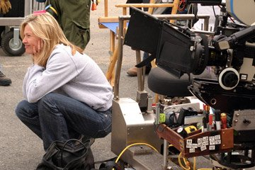 Director Joey Lauren Adams on the set of Roadside Attractions' Come Early Morning