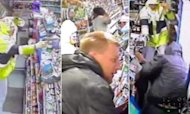 Gun-Wielding Shop Robbers Caught On Camera