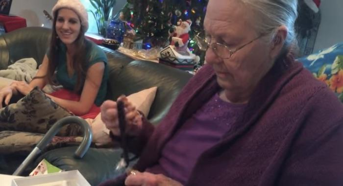 Grandma relieved that her new iPhone is made of chocolate