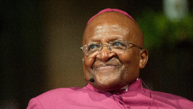 Archbishop Desmond Tutu, pictured here in Cape Town on April 29, 2014, blasted the government for allowing the president to spend $24 million of taxpayers' money on home improvement work