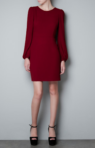 Zara Puff Sleeve Dress, $79.90