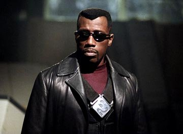 Wesley Snipes as Blade in New Line's Blade: Trinity