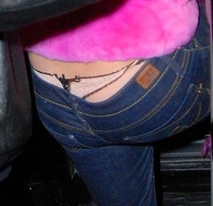 Britney's thong peeks out via Splash News