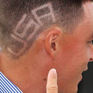 Rickie Fowler's Team U.S.A. haircut
