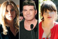 Emily VanCamp, Simon Cowell, Zooey Deschanel | Photo Credits: Richard Cartwright/ABC, Ray Mickshaw / FOX, Greg Gayne/FOX