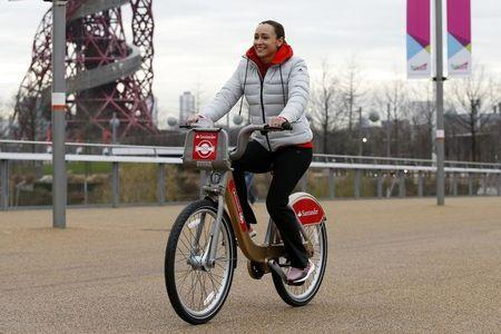 Jessica Ennis-Hill launches extension of Santander Cycles to Queen Elizabeth Olympic Park