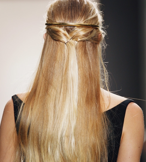 Balenciaga's Half-Up Hairstyle