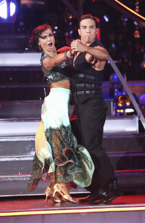 Karina Smirnoff and Apolo Anton Ohno (11/12/12)