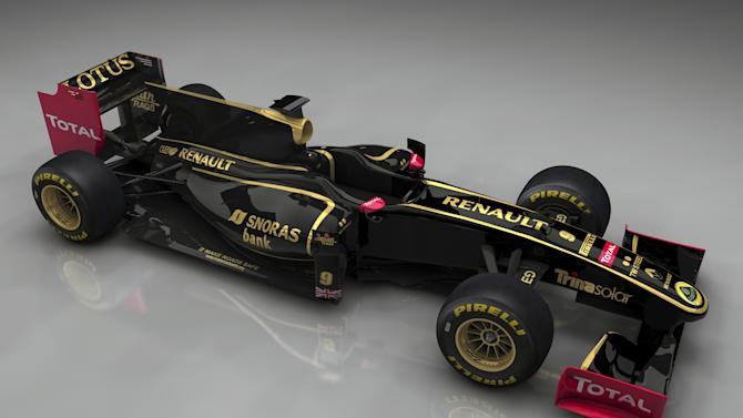 Image released by Renault F1 motor racing on Wednesday Dec 8 2010 of the new F1 car livery. Group Lotus has teamed up with Renault for the 2011 Formula One championship, creating further uncertainty over the use of the famous name.  Lotus reappeared in F1 in 2010 after a 16-year absence with Group Lotus leasing the name to Tony Fernandes' Lotus Racing, but Renault announced Wednesday a new seven-season agreement to create Lotus Renault GP. Fernandes  is pursuing a case through London's High Court to keep the right to use the Team Lotus name. (AP Photo/ RenaultF1) ** NO SALES EDITORIAL USE ONLY