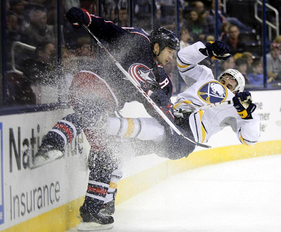 Foligno's 2 goals lift Sabres over Blue Jackets
