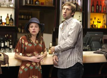 Christine Lakin and Joel David Moore in Regent Releasing's The Hottie and the Nottie