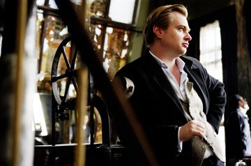 Director Christopher Nolan on the set of Touchstone Pictures' The Prestige