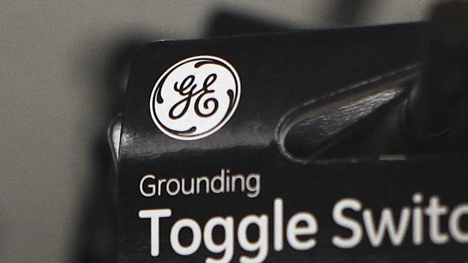 A General Electric Company (GE) logo is seen on a toggle switch package in New York