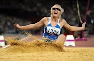Ukraine's Iulia Korunchak competes in the women's long jump F13 final at the London 2012 Paralympic Games in September. Ukraine's stunning success at the Paralympic Games came despite rather than because of attitudes at home, where people with disabilities face huge struggles in daily life, the head of its Paralympic Committee told AFP