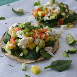 Keep your resolution alive with these healthy tostadas!