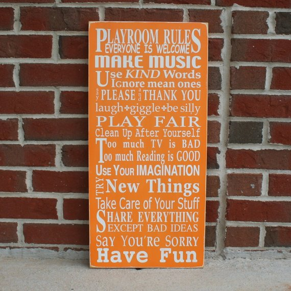 Playroom Rules