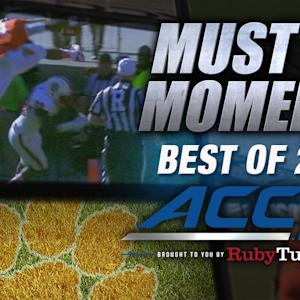 Clemson's Deshaun Watson Leaps Defender Into Endzone | Best of 2014 Must See Moment