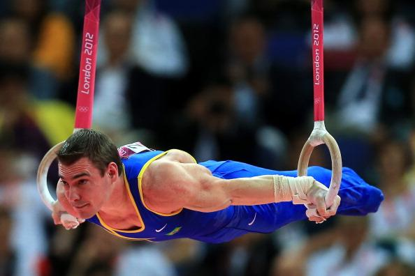 Arthur Nabarrete Zanetti of Brazil competes on the Artistic Gymnastics Men's Rings on Day 10 of the London 2012 Olympic Games at North Greenwich Arena on August 6, 2012 in London, England. (Photo by Phil Walter/Getty Images)