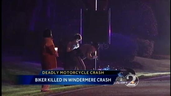 Man on motorcycle killed in crash