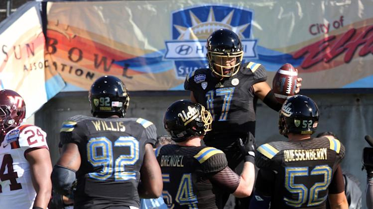 Hundley, UCLA rout Virginia Tech 42-12 in Sun Bowl
