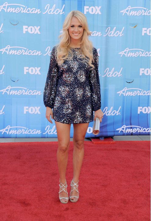 Carrie Underwood arrives at the American Idol Finale on Wednesday, May 23, 2012 in Los Angeles. (Photo by Jordan Strauss/Invision/AP)