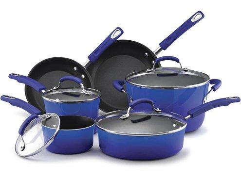 Rachael Ray Porcelain Enamel 10-pc. Cookware Set