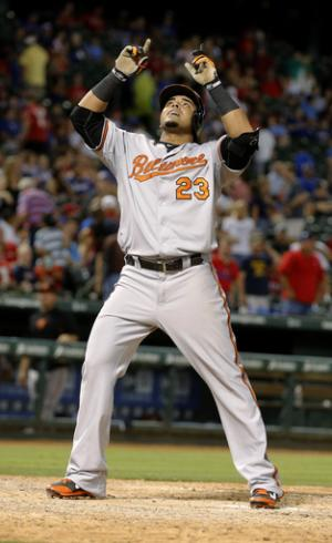 Cruz homers in return to Texas, Orioles win 8-3