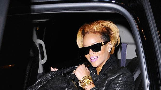 Rihanna Leaves Studio