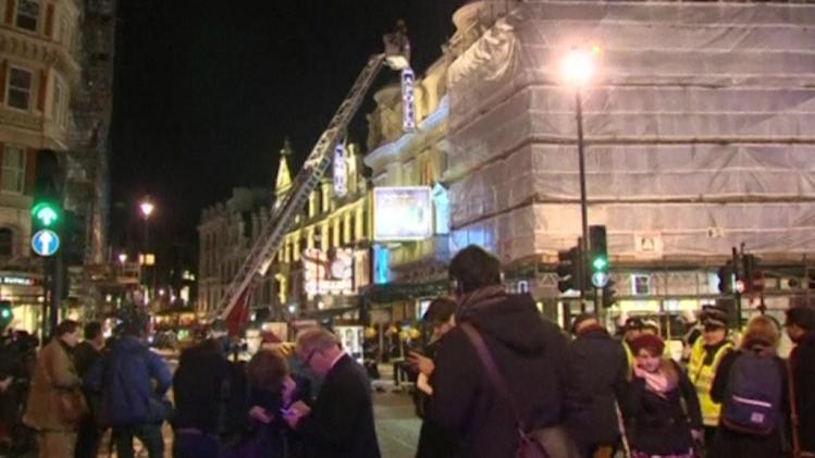Ceiling collapse at London theater