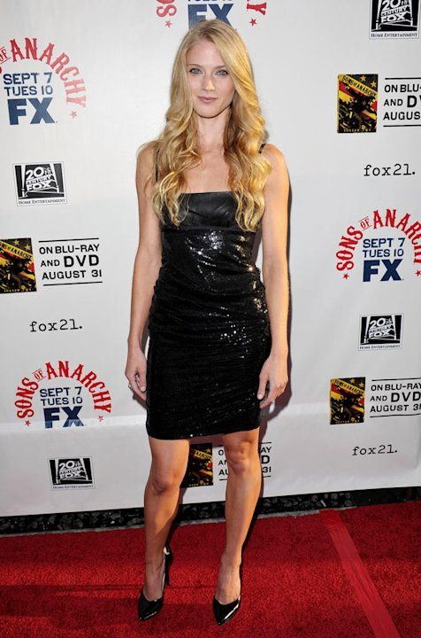 "Winter Ave Zoli attends FX's ""Sons Of Anarchy"" Season 3 premiere on August 30, 2010, in Hollywood."