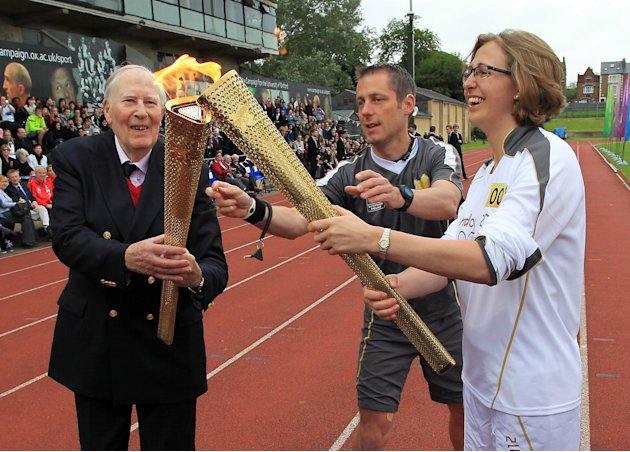 Day 53 - The Olympic Torch Continues Its Journey Around The UK