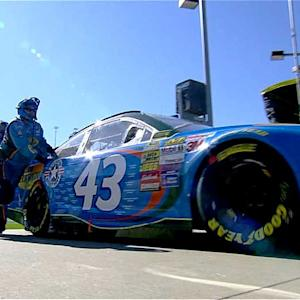 Almirola's day ends with a blown engine