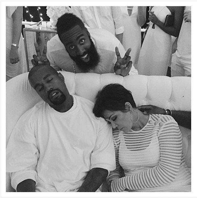 Kanye & Kris Pass Out At 'Rager'