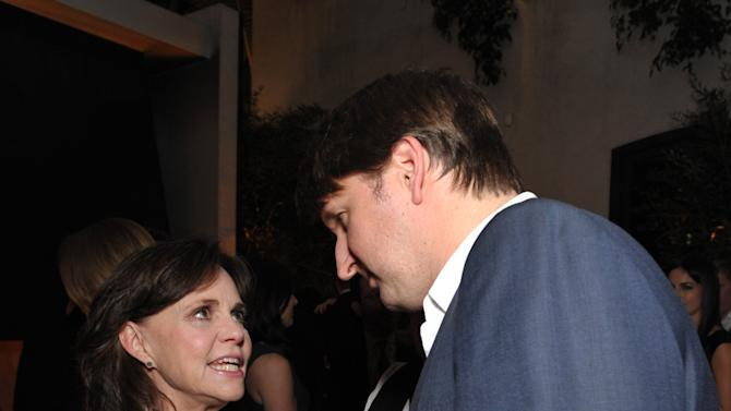 Sally Field, left, and Tom Hooper attend The Hollywood Reporter Nominees' Night at Spago on Monday, Feb. 4, 2013, in Beverly Hills, Calif. (Photo by John Shearer/Invision for The Hollywood Reporter/AP Images)