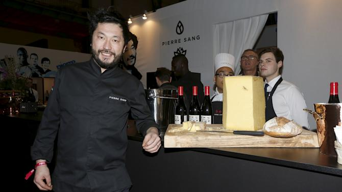 Chef Pierre Sang poses at the Taste of Paris Festival at the Grand Palais in Paris