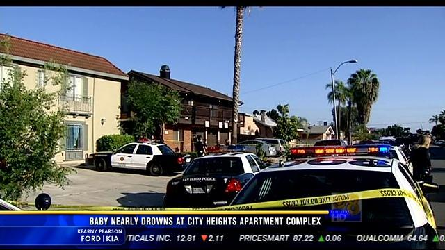 Infant seriously injured in near-drowning in City Heights