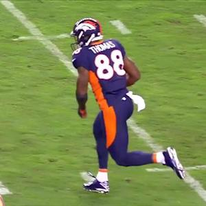 Denver Broncos wide receiver Demaryius Thomas 49-yard reception
