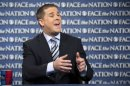 "In this Sunday, May 19, 2013, photo provided by CBS News White House senior advisor Dan Pfeiffer speaks on CBS's ""Face the Nation"" in Washington. Pfeiffer was scheduled to appear on five Sunday news shows Sunday, where he stated no senior officials were involved in the decision to give tea party groups extra scrutiny by the IRS. (AP Photo/CBS, Chris Usher)"