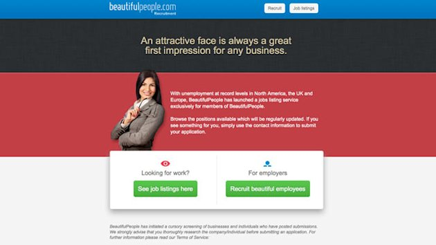 Jobs Site for 'Beautiful People' Launches (ABC News)