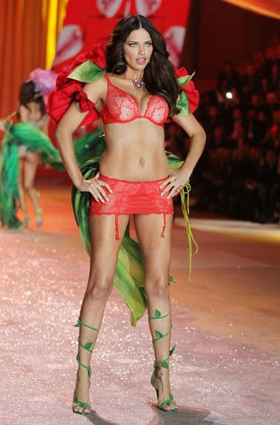 Adriana Lima at the Victoria's Secret Fashion Show 2012