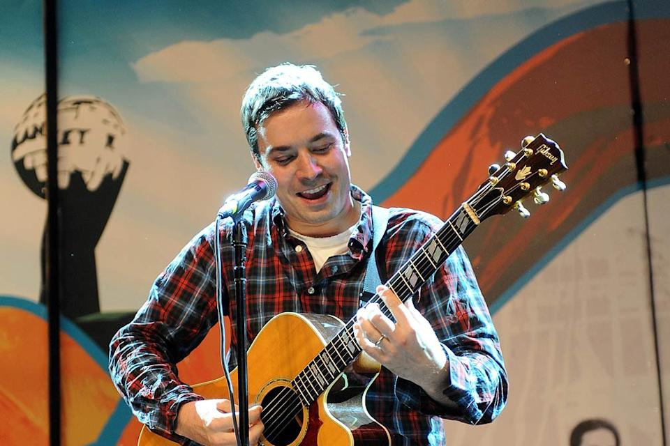 Jimmy Fallon performs during the 2009 Bonnaroo Music and Arts Festival on June 13, 2009 in Manchester, Tennessee.