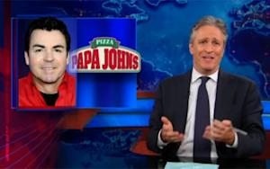 Jon Stewart Chews Out Papa John's