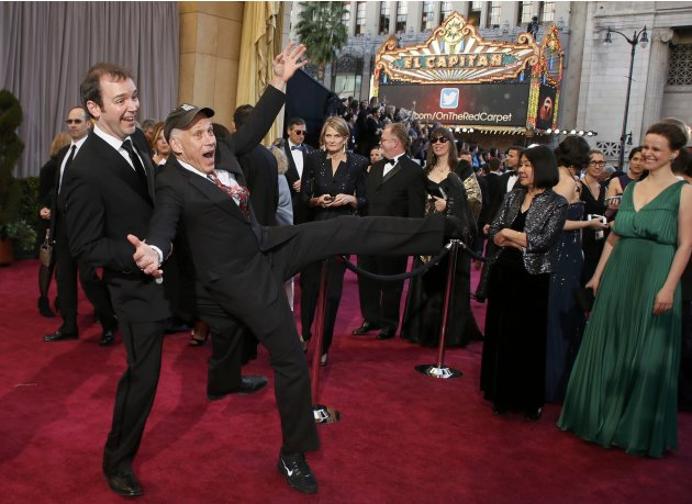 "Best Documentary Short nominees for the film ""Redemption"" filmmakers O'Neill and Alper on  the red carpet prior to the 85th Academy Awards in Hollywood"