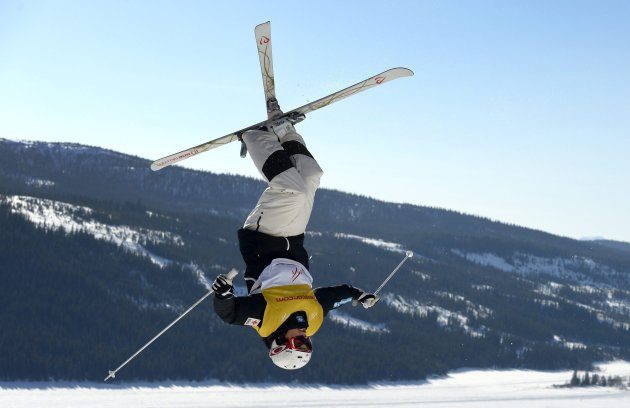 Kingsbury of Canada competes in the FIS Freestyle Skiing World Cup Moguls in Are